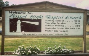 Gospel Light's first sign