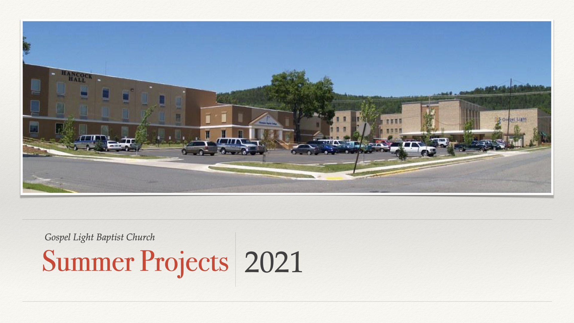 2021 Summer  Projects